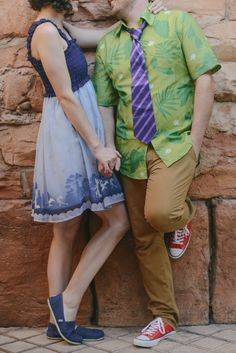 Molly and Evan decided to DisneyBound as Judy and Nick from Zootopia for their anniversary portrait session. Photo: Brittany, Disney Fine Art Photography