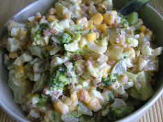 Składniki:  kasza gryczana sucha (100g)  ½ brokuła (250g)  kukurydza (100g)  ogórki kiszone (200g)  2 jajka (120g)  cebula (100g...