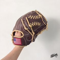 #Gloveworks for Mike DeSanti : Pro Steer-hide with the proud Stars and Stripes. Choose your leather grade, color, web design, and add your national flag or your own logo!  Gloveworks is here for you to build your dream glove. Visit gloveworks.net and bring it home!   #CustomGlove #Customization #BaseballGlove #Baseball #MLB #America #USA