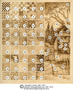 pyrography practice board chart guide                                                                                                                                                                                 More