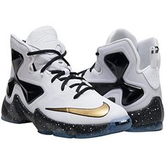 promo code dd08f e70a2 ... low price nike lebron xiii gs boys white metallic gold black basketball  shoe white metallic gold