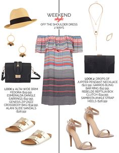 Weekend Style-Off The Shoulder Dress