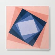 Abstract Square Games Metal Print