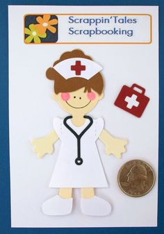 NURSE - Claire - Paper Doll Die Cut Doll Hosptial Pediatric Nursing School BABY Scrapbooking Embellishment. $2.95, via Etsy.