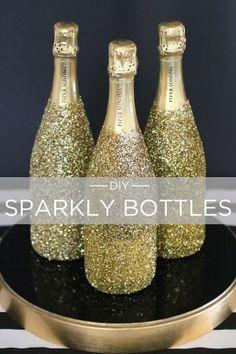 Linen, Lace, & Love: New Year's Eve Champagne DIY's from #EviteGatherings and #BevMo! @Evite @Bevvvvverly LeFevre Monson! #BevMoBubbly