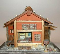 MINIATURE Japanese ZEN TEA HOUSE AND GARDEN