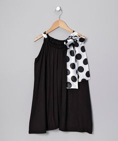Take a look at this Black & White Athena Dress - Toddler & Girls by fiveloaves twofish on #zulily today!