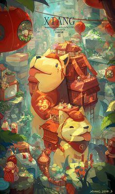 Arte Indie, Illustration Art, Illustrations, Fantasy Art Landscapes, Anime Scenery Wallpaper, Wow Art, Environment Concept Art, Totoro, Animes Wallpapers