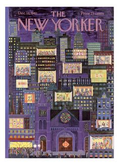 The New Yorker Cover - December 16, 1961 Giclee Print by Ilonka Karasz at eu.art.com