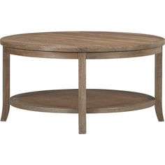 Blake Grey Wash Round Coffee Table in All Sale | Crate and Barrel