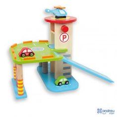 Parking de madera de Andreu Toys http://pekaypeke.com/es/coches-trenes-etc/158-parking-de-madera.html
