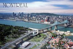 postcard - Montreal from the air Places Around The World, Oh The Places You'll Go, Places To Travel, Places Ive Been, Around The Worlds, Of Montreal, Montreal Canada, Canada Travel, Adventure Travel
