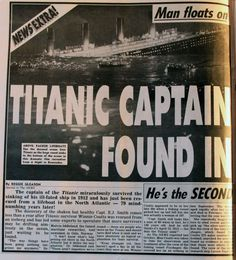 Media Mulch - Books, Movies, Celebrity, Technology, Stuff: Titanic Captain Survived - Found in Lifeboat 79 Years later Titanic Ship, Rms Titanic, Titanic Wreck, Titanic Sinking, Titanic Museum, Belfast, Liverpool, Titanic Underwater, Titanic History