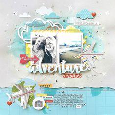 Adventure Awaits scrapbook layout by Missy Whidden for Bella Blvd