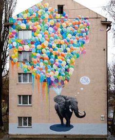 Loved this street art mural by in .- Liebte dieses Street Art Wandgemälde von in – Künstler Loved this street art mural by Marina Korbanov in - 3d Street Art, Murals Street Art, Amazing Street Art, Street Art Graffiti, Mural Art, Street Artists, Amazing Art, Urbane Kunst, Graffiti Murals