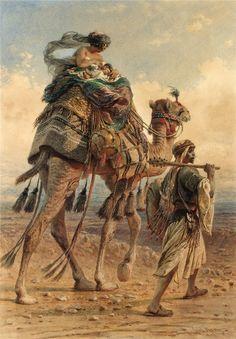 Orientalist paintings by Carl Haag 1820 - 1915 German painter