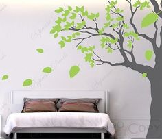 Bedroom Tree Decal Office Tree Decal Playroom Tree Decal Living Room Tree Decal- Big tree(102inch H)- Removable Wall Vinyls via Etsy