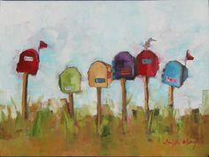 Angela Morgan, off the lane, oil on canvas. Click to view paintings by Angela Morgan at Woodlands Gallery.