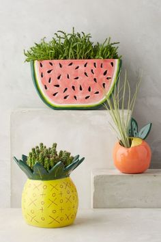 Anthropologie Favorites:: Spring Home New Arrivals macetas Home Decor Accessories, Decorative Accessories, Summer Garden, Home And Garden, Garden Art, Decoration Plante, Spring Home, Clay Projects, Plant Decor
