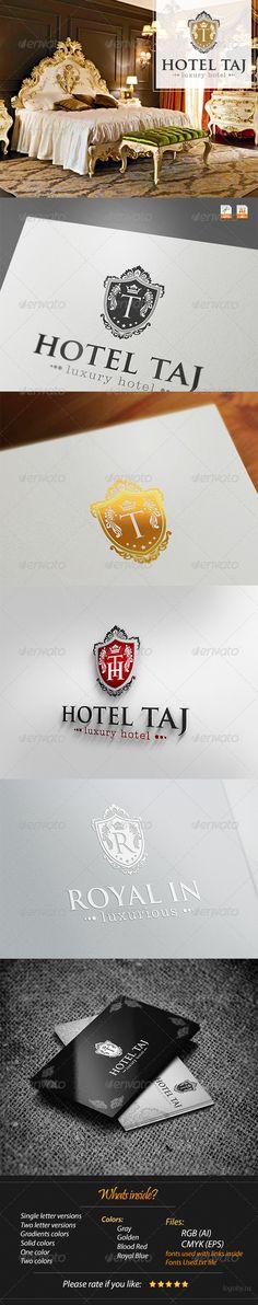 Hotel Taj - the luxurious - logo template