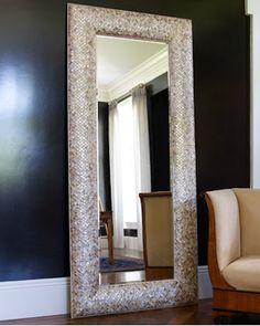 Shop Mother-of-Pearl Floor Mirror from Interlude Home at Horchow, where you'll find new lower shipping on hundreds of home furnishings and gifts. Entryway Mirror, Rustic Wall Mirrors, Mirror Mirror, Mirror Ideas, Vanity Mirrors, Vintage Mirrors, Sunburst Mirror, Mirror Bathroom, Shark Bathroom