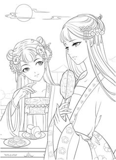 Manga Coloring Book, Cute Coloring Pages, Coloring Pages For Girls, Animal Coloring Pages, Coloring Books, Disney Princess Coloring Pages, Disney Princess Colors, Classic Portraits, Muse Art