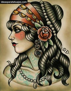 Only eyes for you, traditional style tattoo flash, womans face drawing, roses Contact us for more information on how to become a tattoo artist today! Description from pinterest.com. I searched for this on bing.com/images
