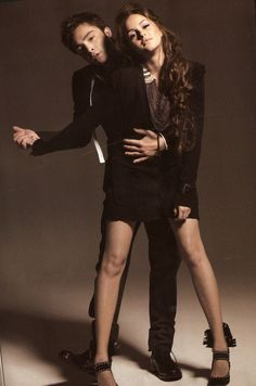 Chuck and Blair for Elle | We love chair!
