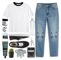 """""""18.8.17"""" by xogeorge ❤ liked on Polyvore featuring Monki, Vans, Aesop, Fishs Eddy, Lapcos and Polaroid"""
