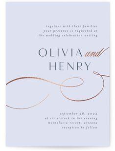 Minimalist Wedding Invitations, Foil Stamped Wedding Invitations, Wedding Art, Dream Wedding, Typography, Lettering, Celebrity Weddings, Banks, Powder