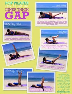POP Pilates thigh workout which is specifically targeted at your inner thighs. I used to do these in pilates and they seriously kick your butt - I mean thighs. Pop Pilates, Pilates Workout, Pilates Video, Pilates Moves, Workout Fitness, Pilates Instructor, Pilates Fitness, Workout Style, Cardio