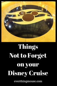 things not to forget