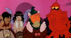 Heroes of Ralph Bakshi's WIZARDS.  The wiz with the red beard is called Avatar.