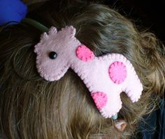 Pink Giraffe Headband- inspired by a cute button on Etsy, $8.00