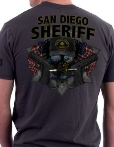 This San Diego Sheriff Shirt was designed specifically for those that fight and run towards chaos in San Diego: The Thin Blue Line. A San Diego Sheriff Shirt for the law enforcement officers of this great state.