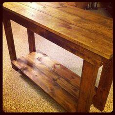 Handmade rustic sofa table