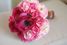 Pink Ombre Wedding Bouquet  Real Touch by SouthernGirlWeddings, $120.00