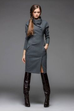 fall coats for women Fashion 2020, Look Fashion, Hijab Fashion, Fashion Dresses, Womens Fashion, Fashion Design, Mode Chic, Mode Style, Winter Dresses
