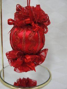 Stunning Handmade Beaded Christmas Tree Ornament by BobbyesHobbies, $14.50