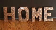 Penny HOME Sign Words Letters by CaliLeFemmeDesigns on Etsy, $24.99