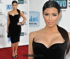 Hot and Sexy #KimKardashian Style Top Unique Dresses - She  wore a velvet Black Dress