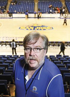 Put a face to the voice of Spartan Sports....here's SJSU's public address announcer Russ Call #SJSU #SpartanSports