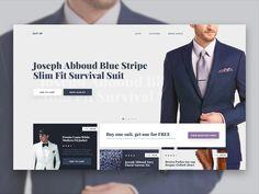 Inspired Web Design - Suit Up - 003 by John  Website Maintenance