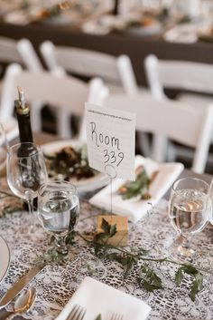 Table numbers as room numbers | Image by Lindsay Hackney Photography