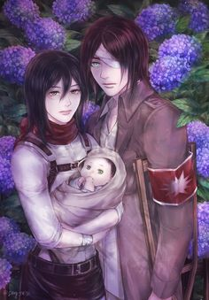 Eren Jaeger / Mikasa Ackerman【Shingeki No Kyojin/Attack On Titan】 Attack On Titan Season, Attack On Titan Eren, Attack On Titan Ships, Attack On Titan Fanart, Armin, Mikasa X Eren, Anime Levi, Rivamika, Eremika