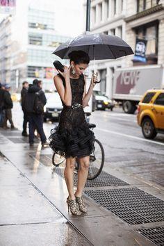 Oscar De La Renta - Raining in SoHo.  A beautiful take on the LBD