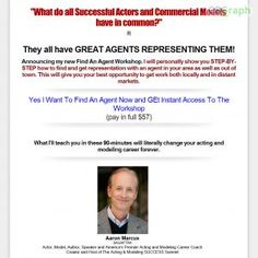 This Is A Step-by-step Workshop By Aaron Marcus Showing Actors And Models Exactly How To Find, Hire And Manage An Agent. See more! : http://get-now.natantoday.com/lp.php?target=fmprofits