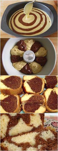 BOLO MÁRMORE,FÁCIL DE FAZER E FICA SUPER FOFINHO!! VEJA AQUI>>>Unte e enfarinhe uma fôrma de furo central (24 cm de diâmetro) e reserve. 2. Preaqueça o forno em temperatura média (180º C) #receita#bolo#torta#doce#sobremesa#aniversario#pudim#mousse#pave#Cheesecake#chocolate#confeitaria Sweet Recipes, Cake Recipes, My Recipes, Favorite Recipes, Cake Cookies, Cupcake Cakes, Cupcakes, Strawberry Roll Cake, Delicious Desserts