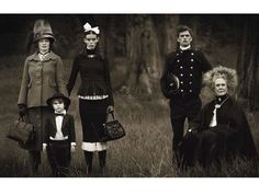Vintage Family Portraiture - The October 2012 W Magazine 'A Modest Proposal' Editorial is Antique (GALLERY)
