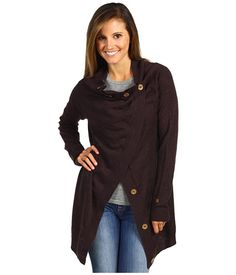 The North Face Women's Hideaway Sweater Wrap Baroque Purple Heather - Zappos.com Free Shipping BOTH Ways